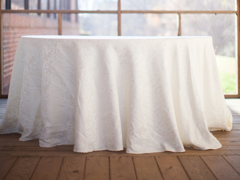 Discount Table Linen Rentals Part - 46: Ivory Damask